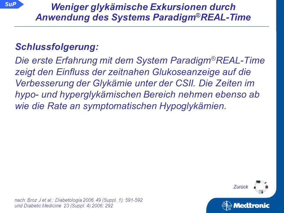 Rate an symptomatischen Hypoglykämien in 5 Tagen: CSII konv.