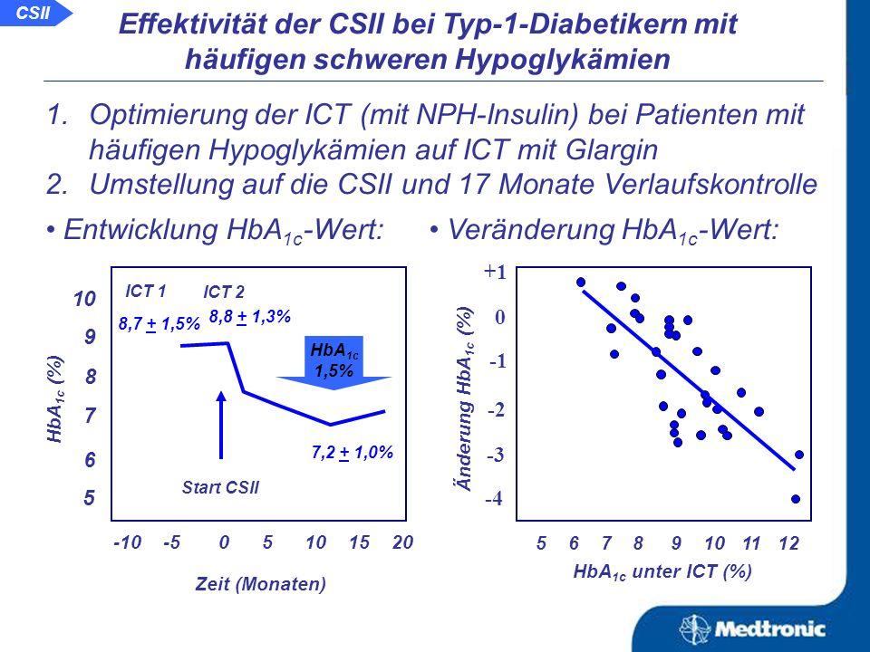 Aussage: Nicht alle unter der ICT mit Normalinsulin ungenügend eingestellten Patienten profitieren von der Umstellung auf die ICT mit Insulinanaloga.