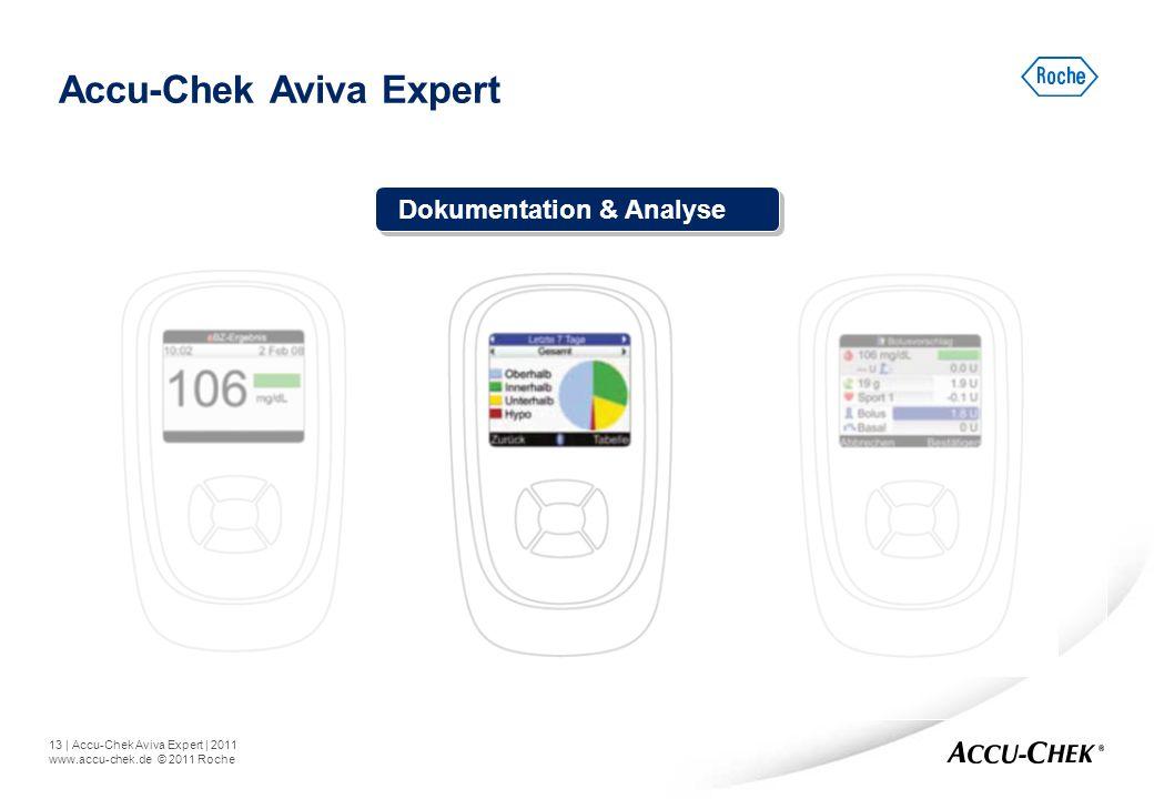 13   Accu-Chek Aviva Expert   2011 www.accu-chek.de © 2011 Roche Accu-Chek Aviva Expert Dokumentation & Analyse