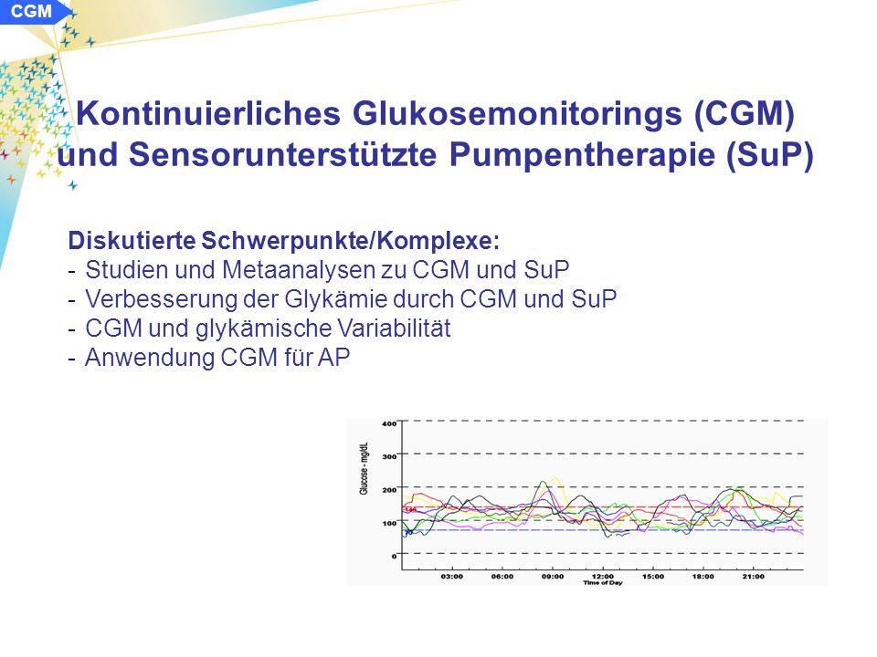 CSII Glykämische Variabilität und oxidativer Stress unter der CSII und ICT bei Kindern mit Typ-1-Diabetes Angulo M et al.: ISPAD 2010 Schlussfolgerung: -die glykämische Variabilität (GV) ist unter der CSII geringer als unter der ICT -es besteht ein signifikanter Zusammenhang der GV mit dem oxidativen Stressmarker TNF-α