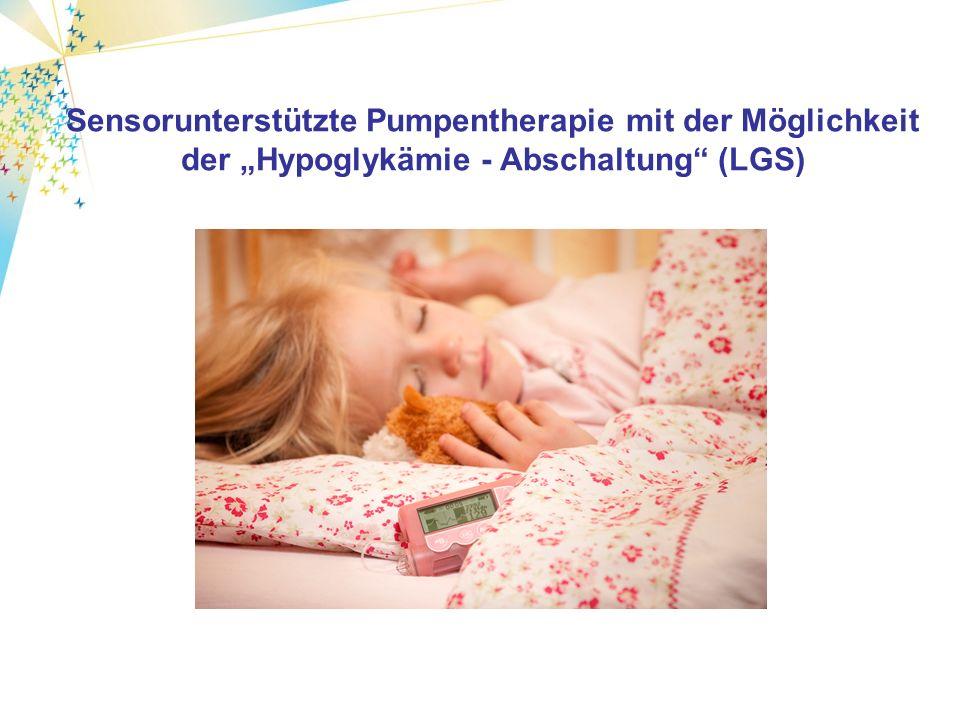 Sensorunterstützte Pumpentherapie mit der Möglichkeit der Hypoglykämie - Abschaltung (LGS)