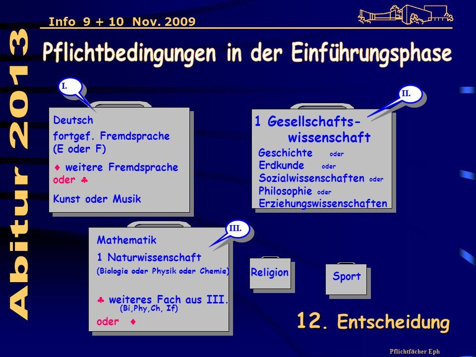 Pflichtf ä cher Eph 1 Gesellschafts- wissenschaft Geschichte oder Erdkunde oder Sozialwissenschaften oder Philosophie oder Erziehungswissenschaften Deutsch fortgef.