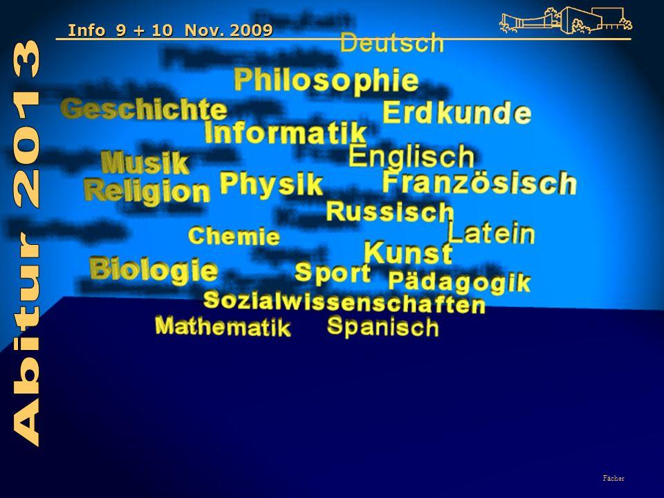 Fächer Info 9 + 10 Nov. 2009