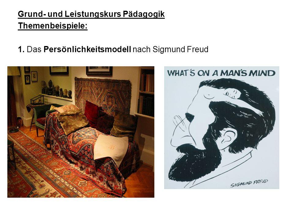 Grund- und Leistungskurs Pädagogik Themenbeispiele: 1. Das Persönlichkeitsmodell nach Sigmund Freud