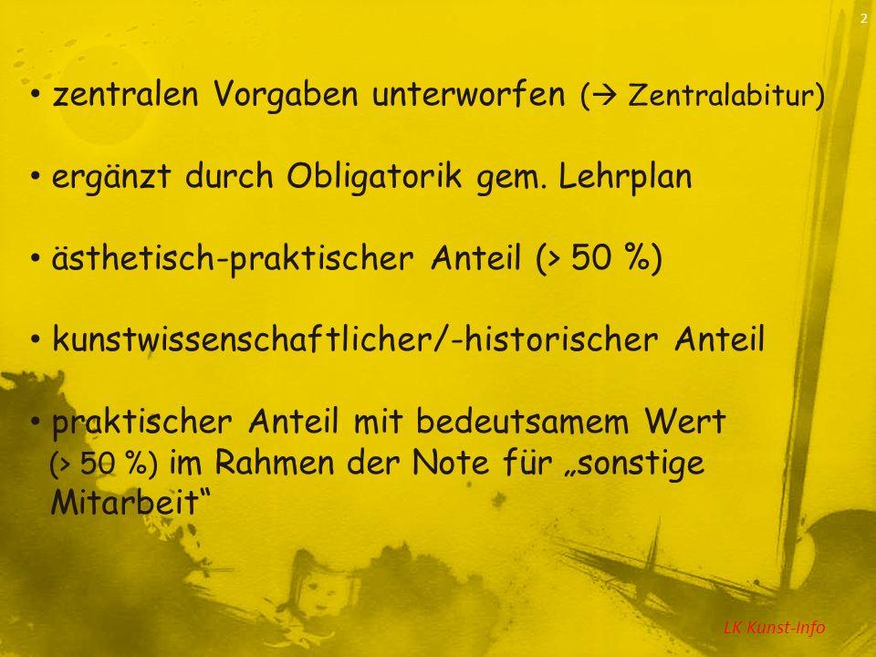 LK Kunst-Info 3 Inhaltliches : Natur- u.