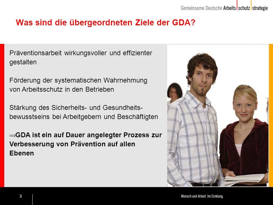 3 Was sind die übergeordneten Ziele der GDA.
