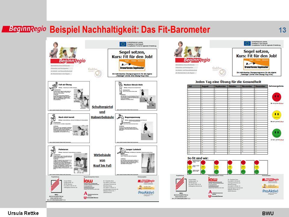 Ursula Rettke BWU 13 Beispiel Nachhaltigkeit: Das Fit-Barometer