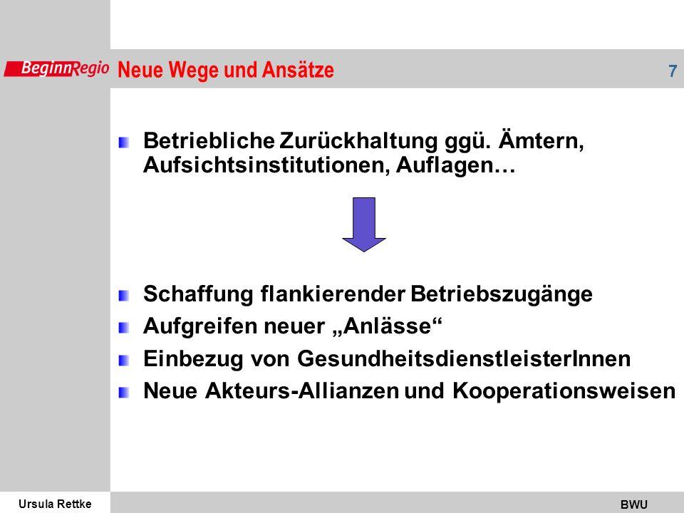 Ursula Rettke BWU 7 Betriebliche Zurückhaltung ggü.