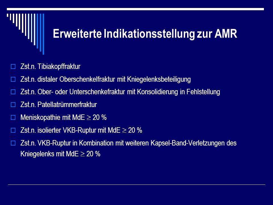Erweiterte Indikationsstellung zur AMR Zst.n.Tibiakopffraktur Zst.n.