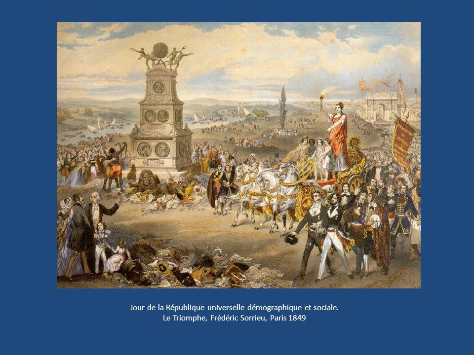 Jour de la République universelle démographique et sociale. Le Triomphe, Frédéric Sorrieu, Paris 1849