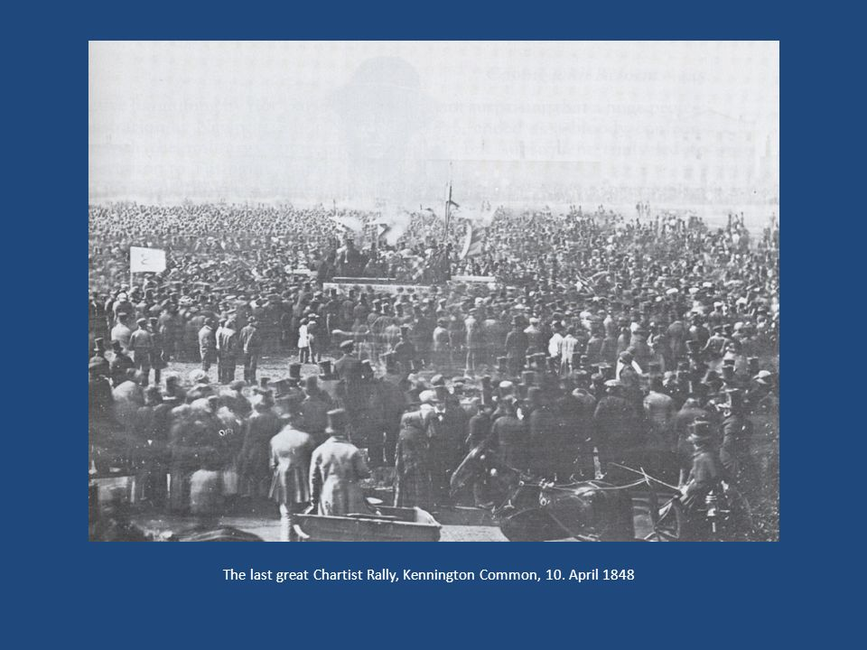 The last great Chartist Rally, Kennington Common, 10. April 1848