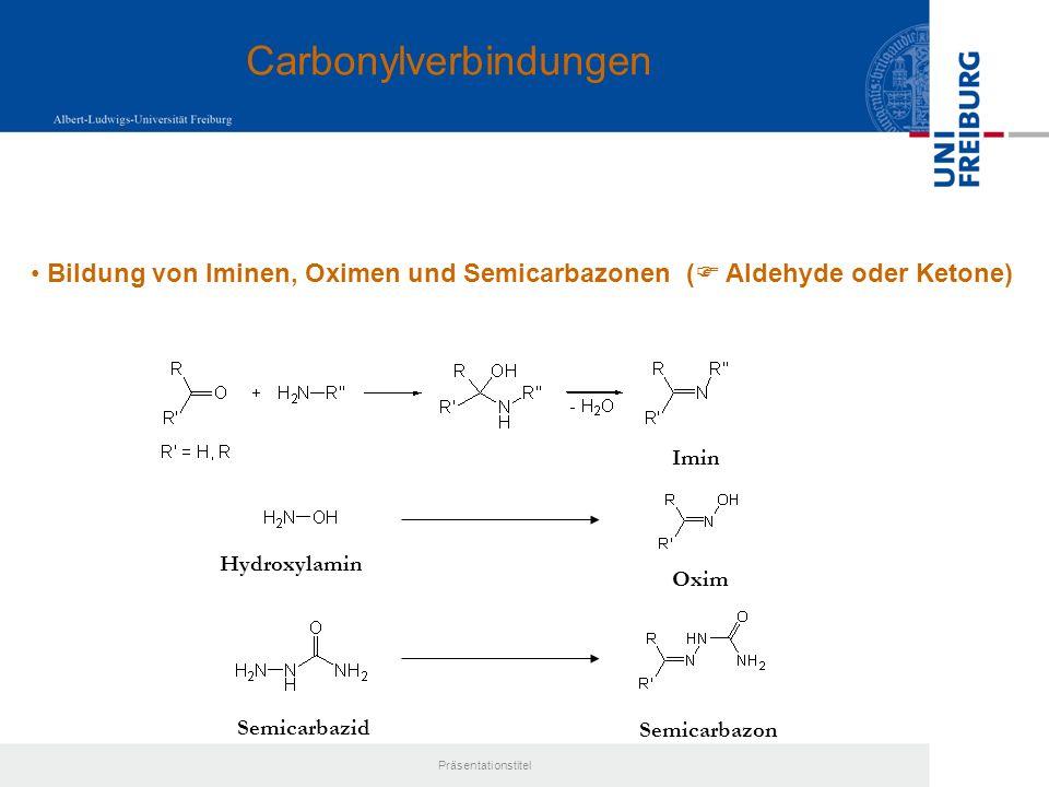 Präsentationstitel - Hydroxycarbonylverbindungen Kohlenhydrate = + 111= + 19 = + 53 -Hydroxycarbonyle