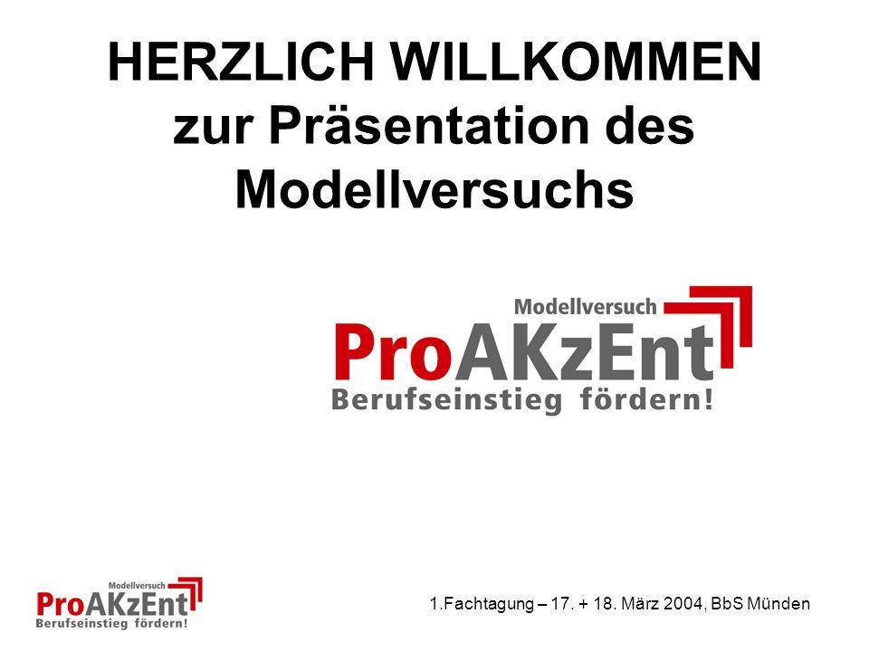 1.Fachtagung – 17. + 18. März 2004, BbS Münden Vielen Dank für Ihre Aufmerksamkeit!
