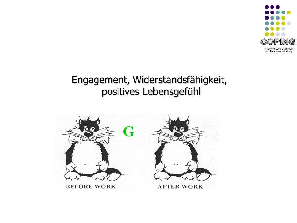 Psychologische Diagnostik und Personalentwicklung G Engagement, Widerstandsfähigkeit, positives Lebensgefühl positives Lebensgefühl
