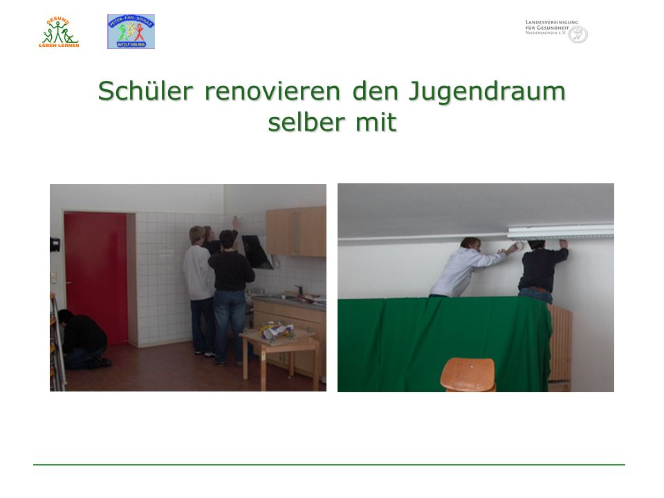 Schüler renovieren den Jugendraum selber mit
