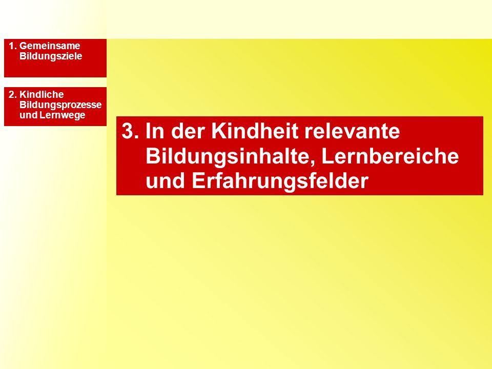 3.Bildungsinhalte, Lernbereiche und Erfahrungsfelder 1.