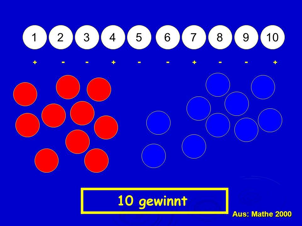 12345678910 + - - +++ ---- 10 gewinnt Aus: Mathe 2000