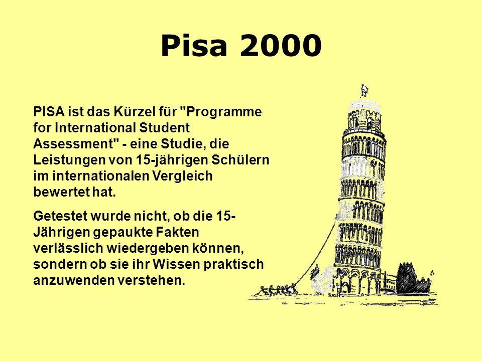 Pisa 2000 PISA ist das Kürzel für