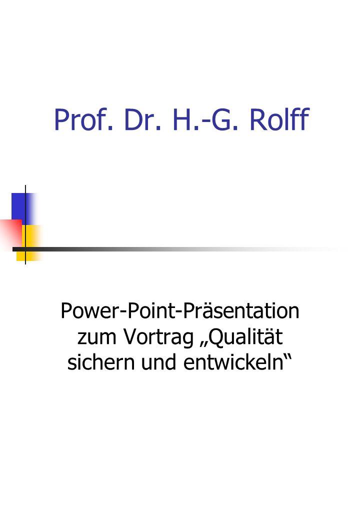 Prof. Dr. H.-G. Rolff Power-Point-Präsentation zum Vortrag Qualität sichern und entwickeln