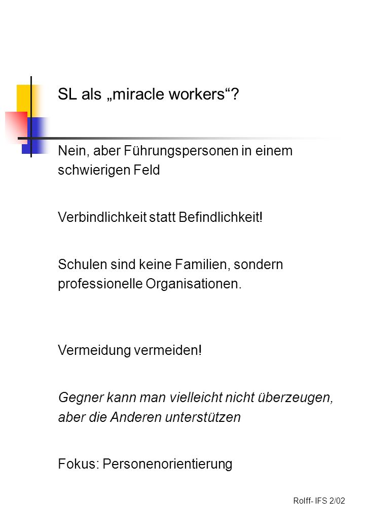 SL als miracle workers.