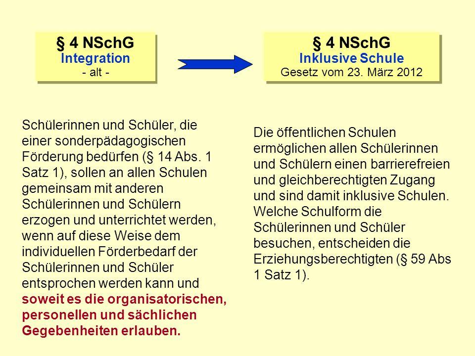 Niedersächsisches Kultusministerium NSchG Niedersächsisches Schulgesetz § § § Niedersächsisches Schulgesetz