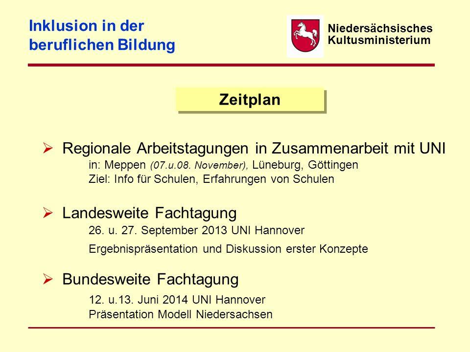 Niedersächsisches Kultusministerium Strategie Klärung der Ressourcen -Frage!! Lehrerfortbildung, Integrationshelfer, zusätzliche Förderlehrkräfte, Bau