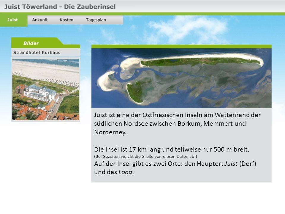 Juist ist eine der Ostfriesischen Inseln am Wattenrand der südlichen Nordsee zwischen Borkum, Memmert und Norderney.
