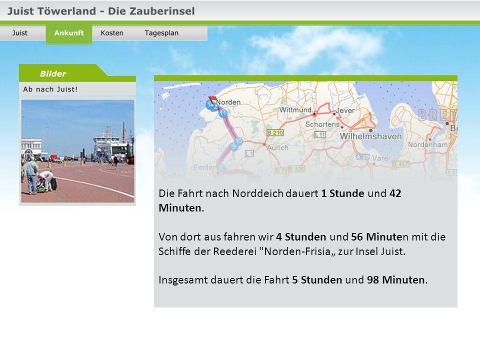 Die Tagesrückfahrtkarte kostet 18,00 Euro für alle Personen ab 14 Jahren.