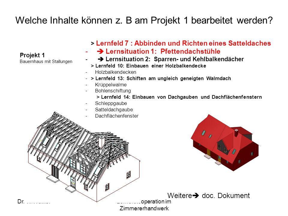 Dr. W.WülkerLernortkooperation im Zimmererhandwerk Projekt 1 Bauernhaus mit Stallungen > Lernfeld 7 : Abbinden und Richten eines Satteldaches - Lernsi