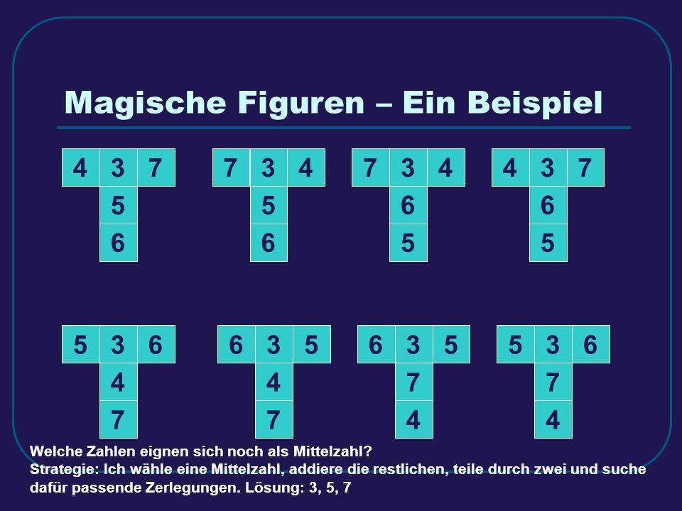 347 5 6 347 5 6 374 5 6 374 5 6 3 4 7 653 4 7 653 4 7 563 4 7 56 Welche Zahlen eignen sich noch als Mittelzahl? Strategie: Ich wähle eine Mittelzahl,