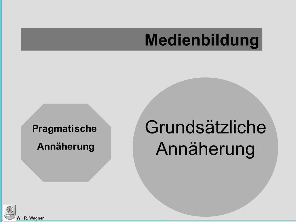 W.- R. Wagner Pragmatische Annäherung Grundsätzliche Annäherung Medienbildung