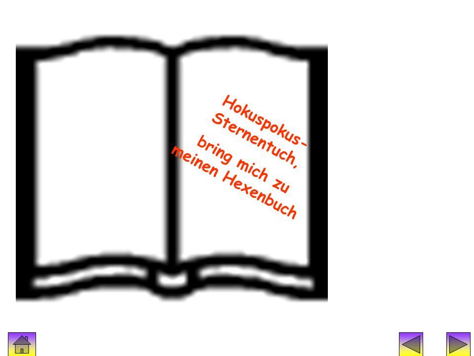 Zauberspruch 4 Hokuspokus- Sternentuch, bring mich zu meinen Hexenbuch