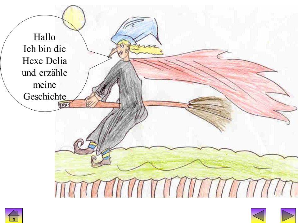 Hexengeschichte:Hexe Delia Hallo Ich bin die Hexe Delia und erzähle meine Geschichte