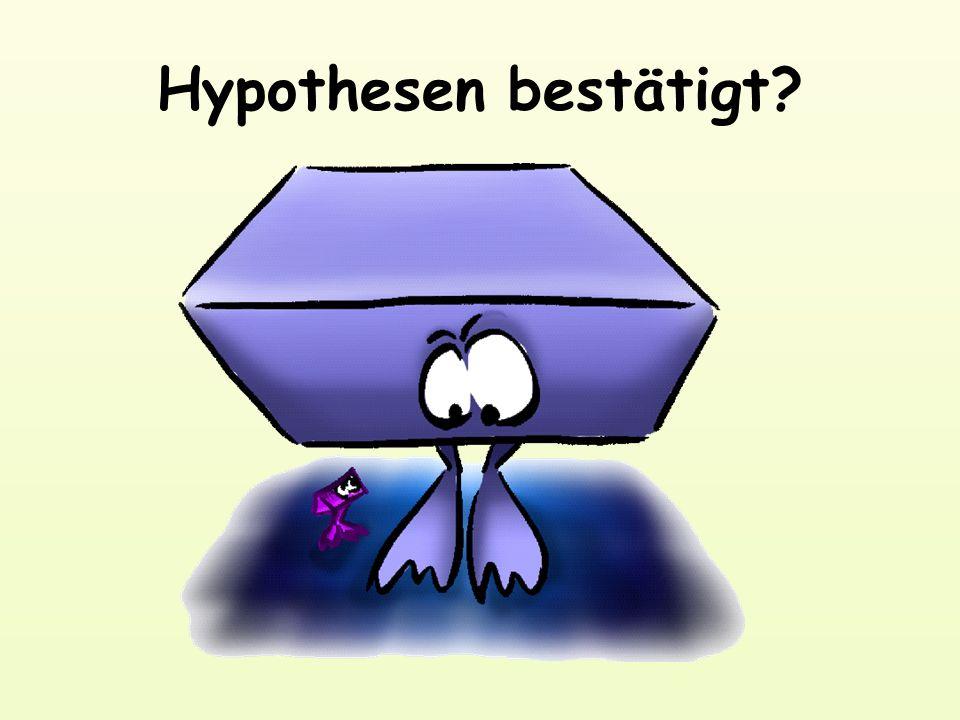Hypothesen bestätigt?