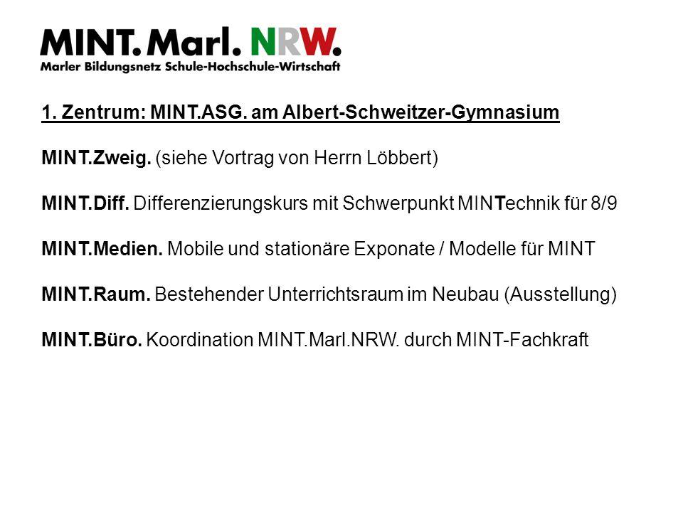 1. Zentrum: MINT.ASG. am Albert-Schweitzer-Gymnasium MINT.Zweig.
