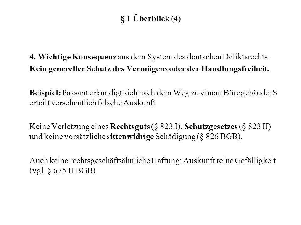 § 1 Überblick (4) 4.