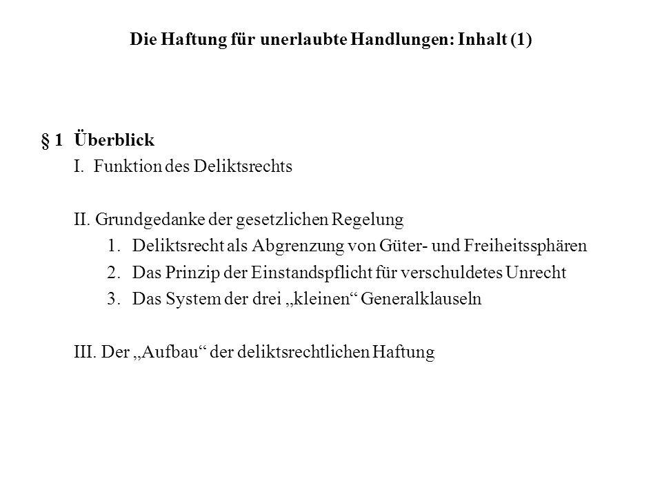 Fall 1:Einführung in das System des Deliktsrechts Roland rast bei strömendem Regen über eine Pflasterstraße in Berlin-Mitte und kann nicht mehr bremsen, als der beliebte Sänger Sahnig vorschriftsmäßig die Straße überquert.
