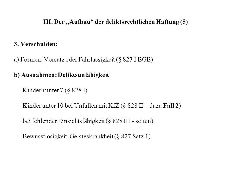 III.Der Aufbau der deliktsrechtlichen Haftung (5) 3.