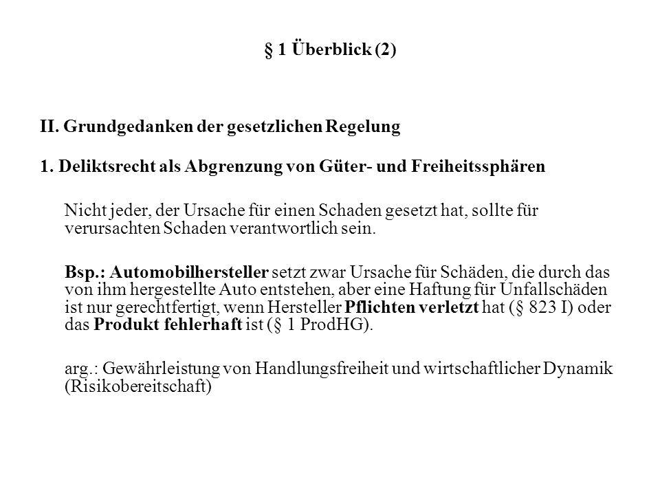 § 1 Überblick (2) II.Grundgedanken der gesetzlichen Regelung 1.
