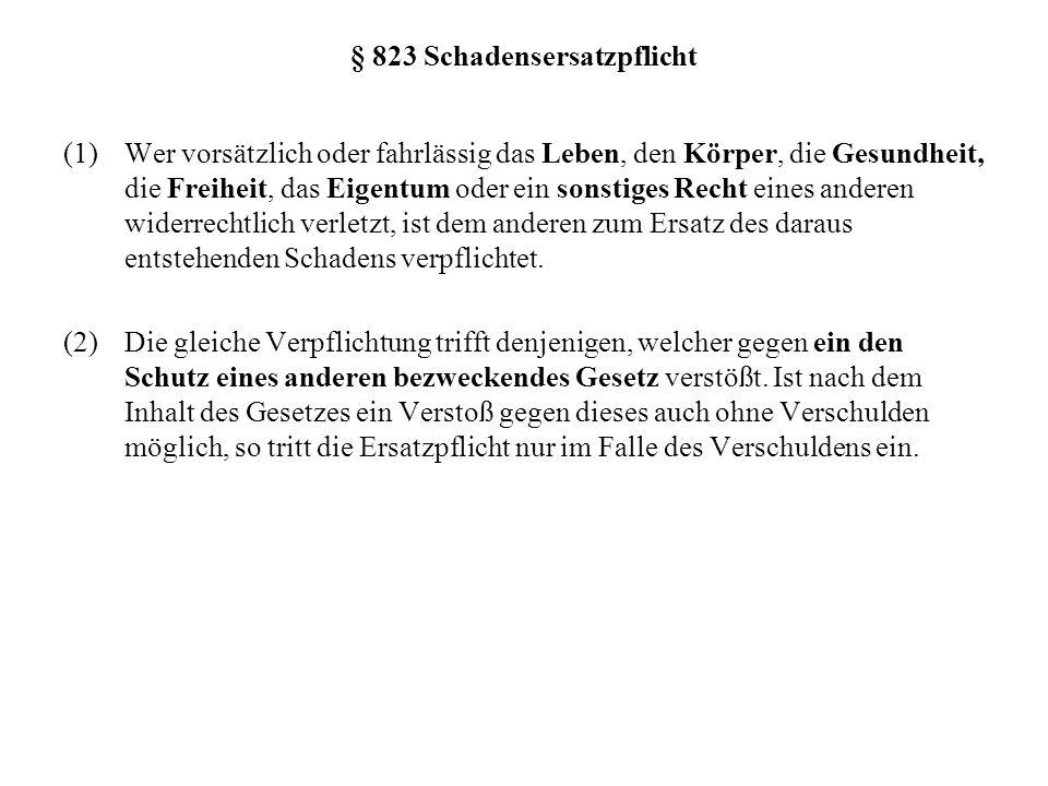 III.Der Aufbau der deliktsrechtlichen Haftung (1) 1.