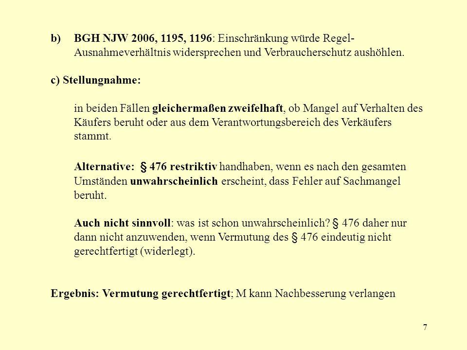 8 Fall 12: O – Bein -Dackel A.Anspruch auf Schadensersatz gem.
