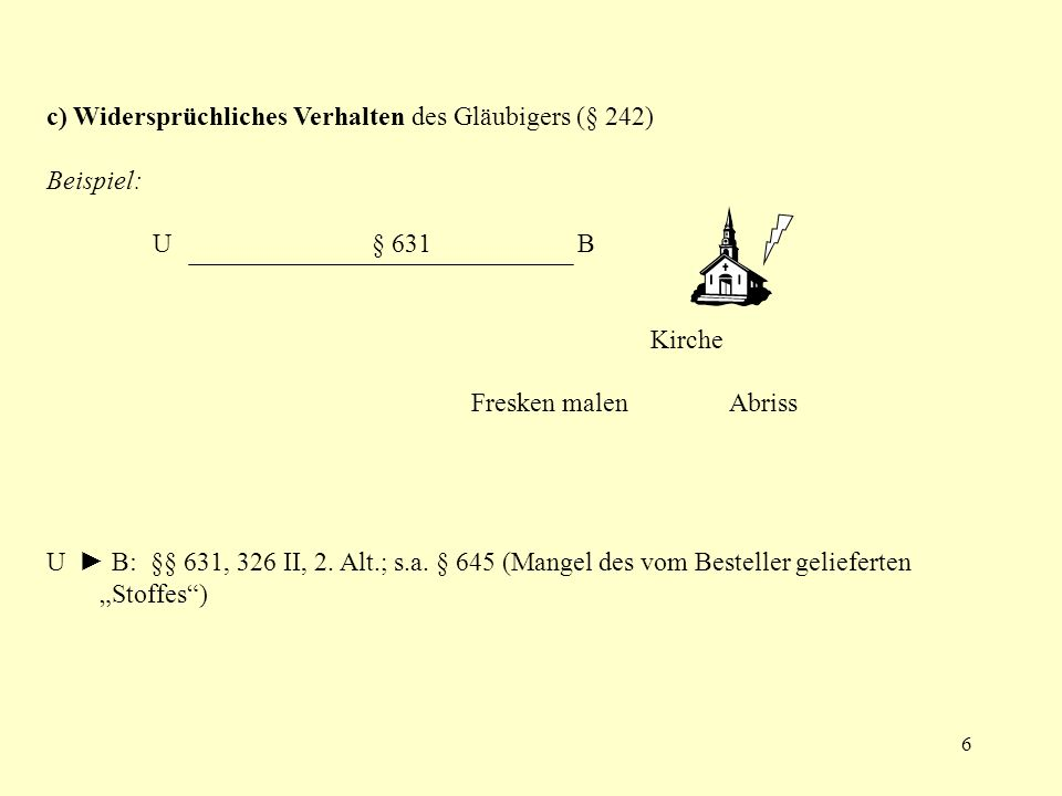 7 a) Larenz (SR AT, § 25 III = S.