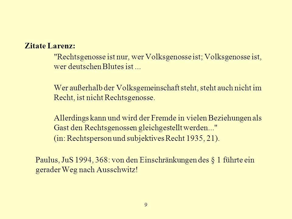 10 Parteiprogramm der NSDAP 4. Staatsbürger kann nur sein, wer Volksgenosse ist.