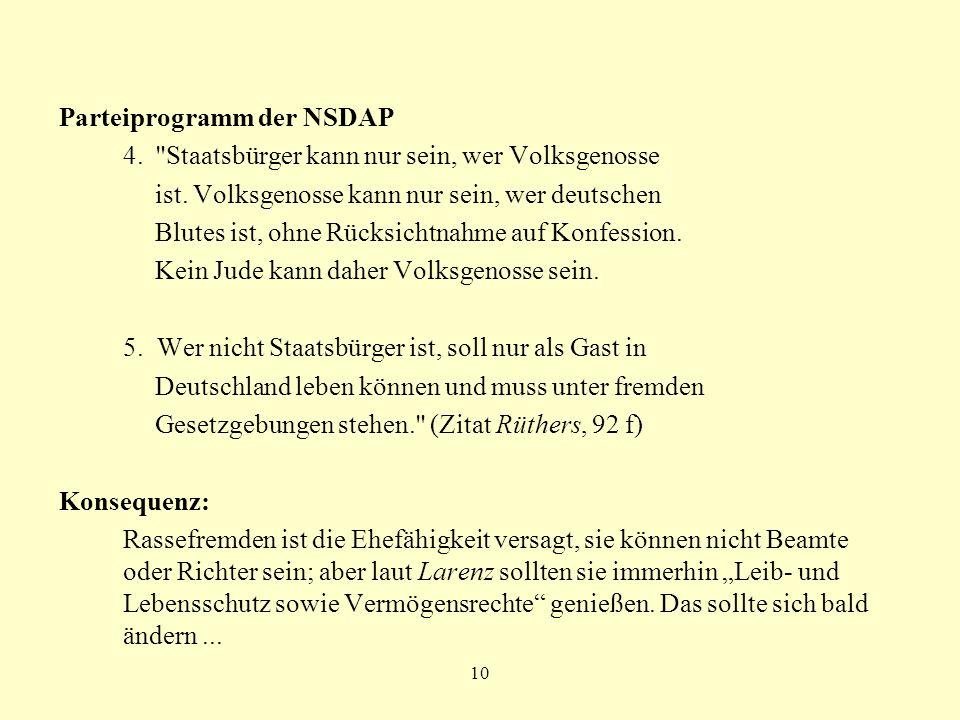 10 Parteiprogramm der NSDAP 4.