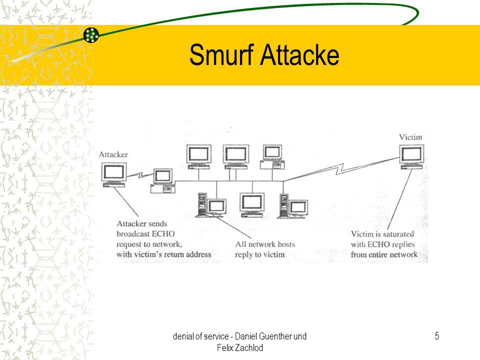 denial of service - Daniel Guenther und Felix Zachlod 5 Smurf Attacke
