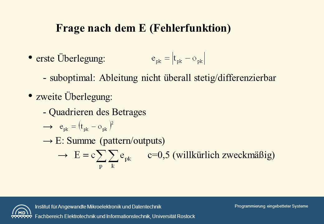 Institut für Angewandte Mikroelektronik und Datentechnik Fachbereich Elektrotechnik und Informationstechnik, Universität Rostock Programmierung eingebetteter Systeme kurze Zusammenfassung