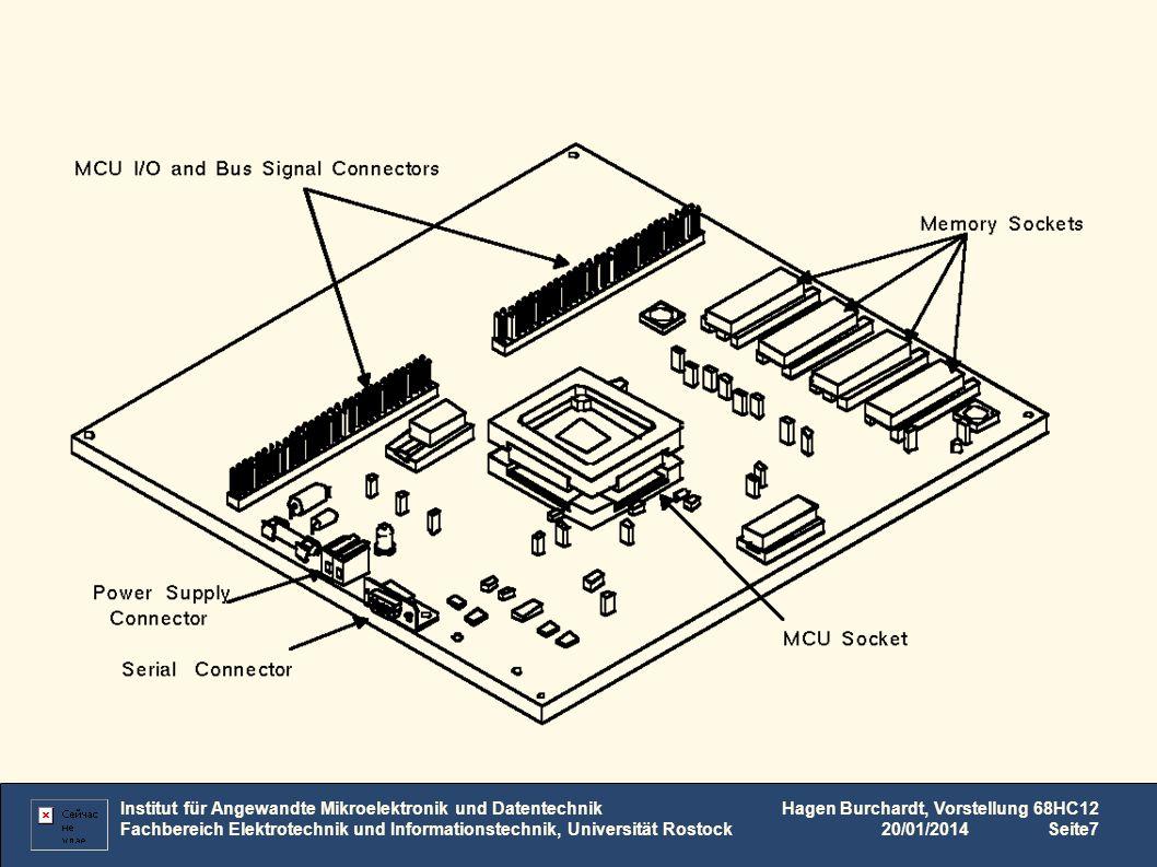 Konfiguration Institut für Angewandte Mikroelektronik und Datentechnik Fachbereich Elektrotechnik und Informationstechnik, Universität Rostock Hagen Burchardt, Vorstellung 68HC12 20/01/2014Seite8