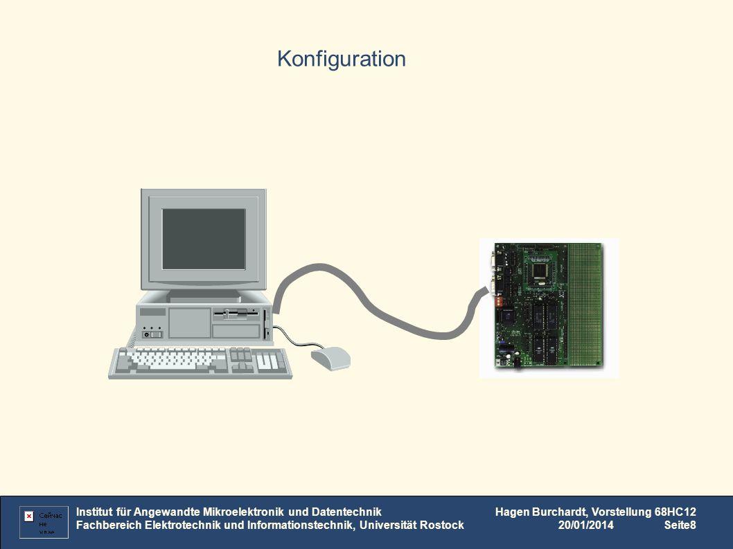 Konfiguration Institut für Angewandte Mikroelektronik und Datentechnik Fachbereich Elektrotechnik und Informationstechnik, Universität Rostock Hagen B