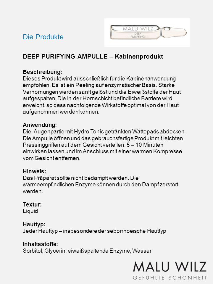 DEEP PURIFYING AMPULLE – Kabinenprodukt Beschreibung: Dieses Produkt wird ausschließlich für die Kabinenanwendung empfohlen. Es ist ein Peeling auf en