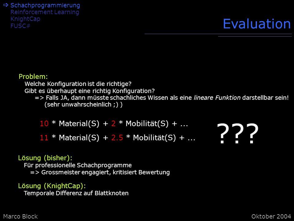 Marco BlockOktober 2004 Problem: Welche Konfiguration ist die richtige.